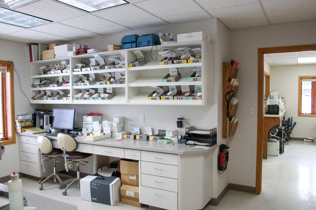 Dental Lab Area at Wanserski Dental Center for Complex Dentistry