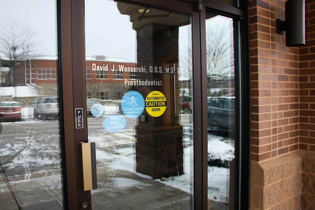 Office Entrance at Wanserski Dental Center for Complex Dentistry