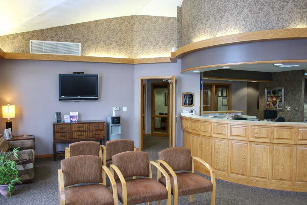 Waiting area at Wanserski Dental Center for Complex Dentistry