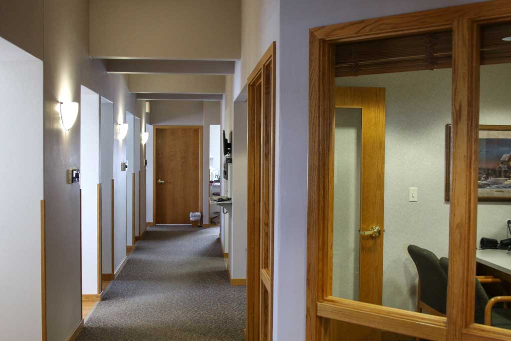 Hallway to operatories at Wanserski Dental Center for Complex Dentistry
