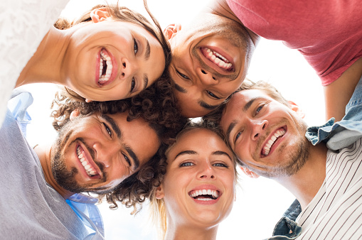 Group of young adults smiling